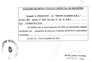 Tropicalisima SRL (sellado) 2